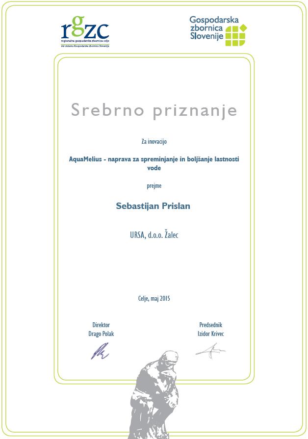 Sebastijan Prislan - AquaMelius - srebrno