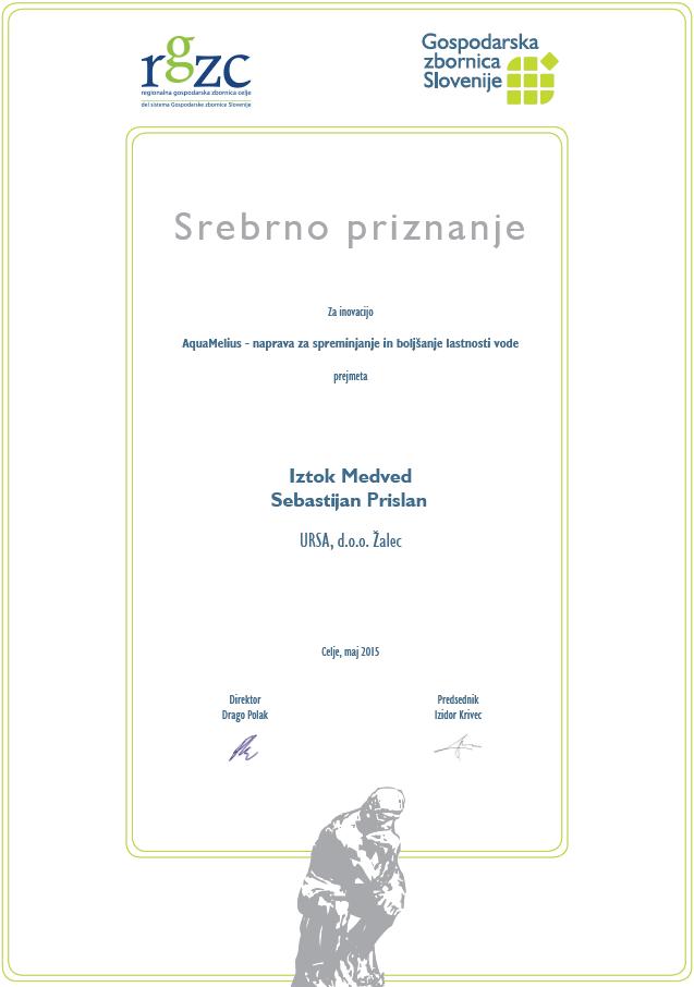Sebastijan Prislan - Iztok Medved - Ursa d.o.o. - srebrno