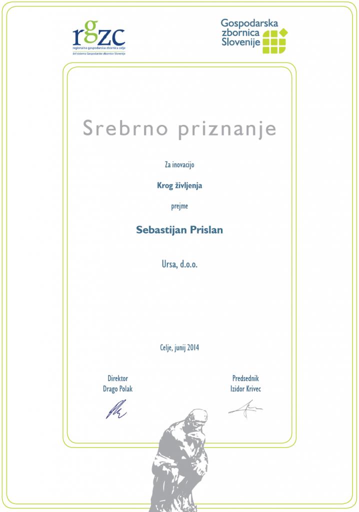 Sebastijan Prislan- Ursa d.o.o. - srebrno