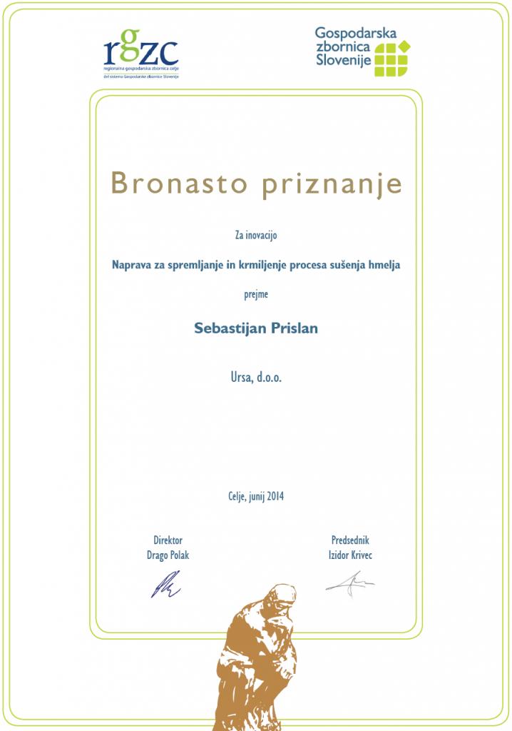 Sebastijan Prislan - bronasto